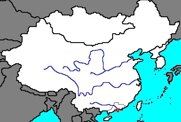 La Chine Ancienne Carte Vierge Carte Vierge De La Chine