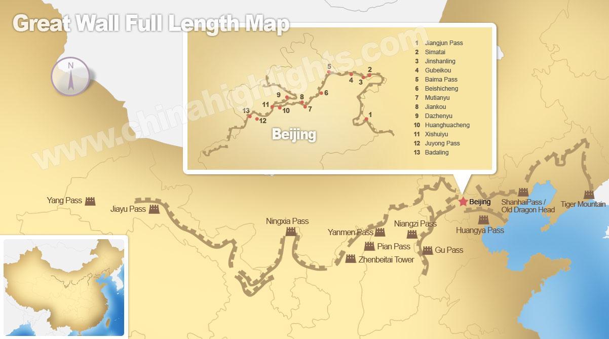 Carte Chine Grande Muraille.Grande Muraille De Chine A La Carte La Grande Muraille De