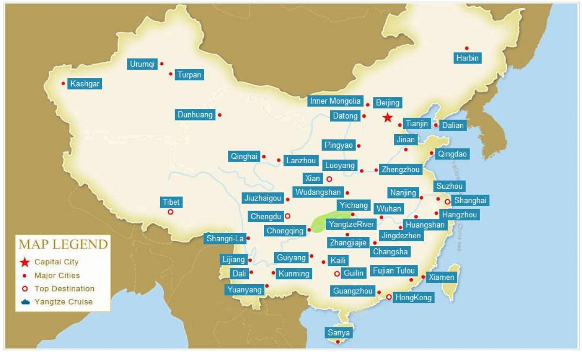 Carte Chine Xiamen.Carte De La Chine Avec Les Villes La Carte De La Chine