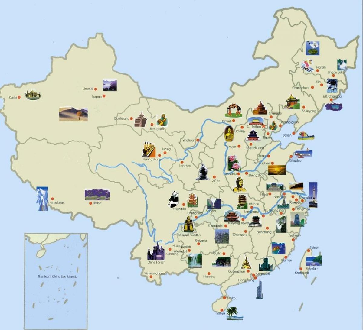 Carte Touristique Asie.La Chine Carte Touristique Carte Touristique De La Chine