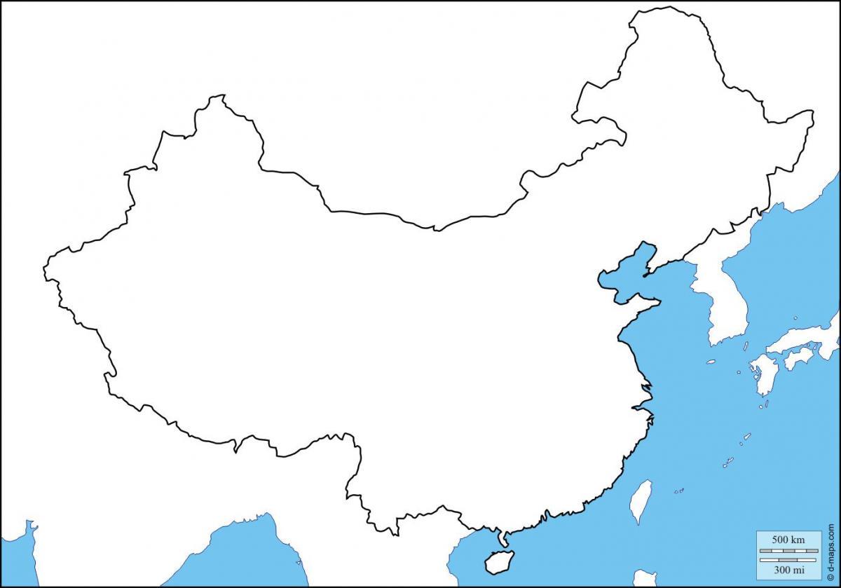 Carte Asie Vierge.Vide La Carte De La Chine La Chine Carte Vierge Asie De L Est Asie