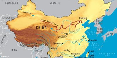Une carte de la Chine